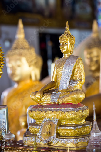 Plexiglas Boeddha Buddha statue related to the soul and spiritual of every person in Buddhism religion
