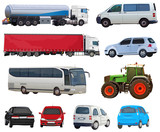 Set of automobiles - 204131760