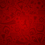 red soccer background - 204132736