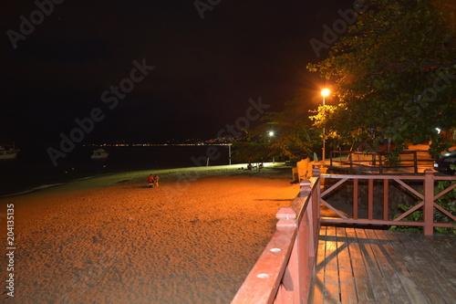 Plexiglas Nacht snelweg ilha bela - sao paulo sp