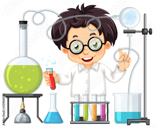 Plexiglas Kids A Chemist Experiment at Lab