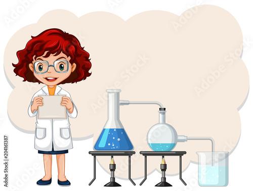 Plexiglas Kids A Female Scientist Experiment Template