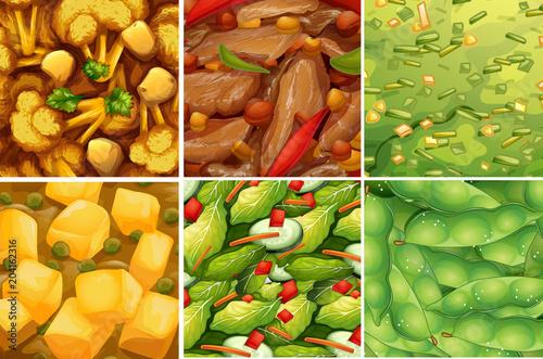 Plexiglas Kids Close Up Healthy Food Set