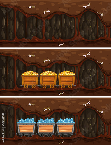 Plexiglas Kids Cave Mine with Wooden Treasure Cart