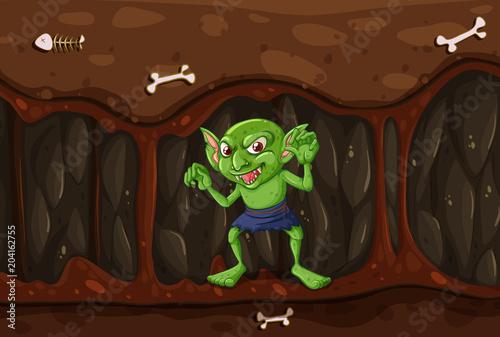 Plexiglas Kids Goblin in the Mystery Cave