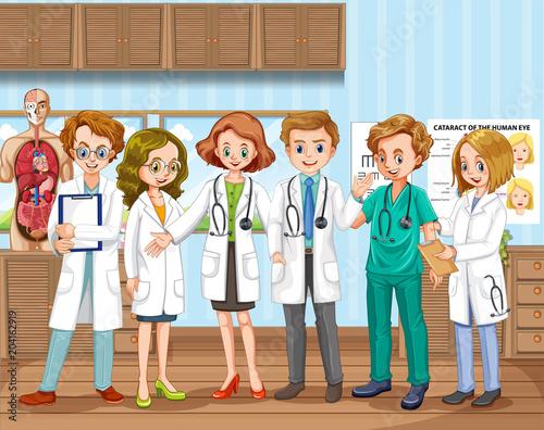 Plexiglas Kids A Doctor Team at Hospital