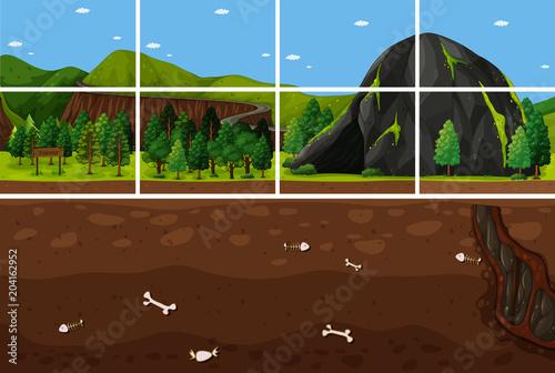 Plexiglas Kids Puzzle of Forest and Underground