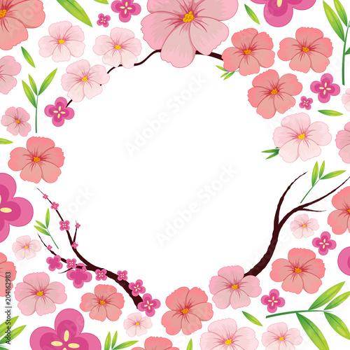 Plexiglas Kids Asian Pink Japanese Sakura Template