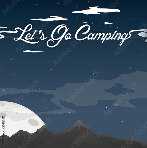 Plexiglas Kids Camping At Night Clear Blue Sky