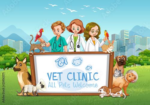 Plexiglas Kids Cute Pets Clinic Welcome Sign