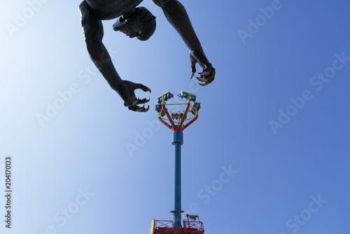 Fotobehang Amusementspark Luna park