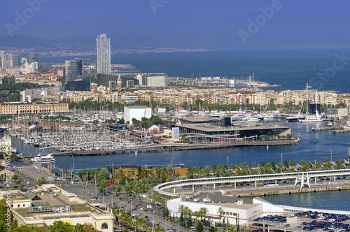 Fotobehang Barcelona Barcelona cityscape view in Spain