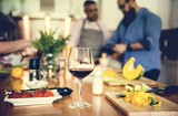 Group of friends are cooking in the kitchen - 204197786