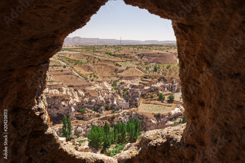 Fotobehang Chocoladebruin Amazing Cappadocia - Hortahisar