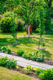 Beautiful Home garden Allotment in spring