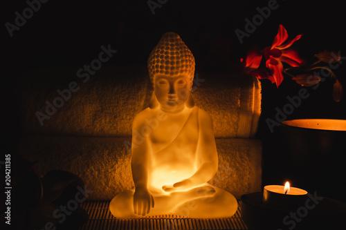 Plexiglas Boeddha Luminous buddha