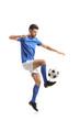 Soccer player juggling