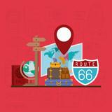 travel around the world set icons vector illustration design - 204224570