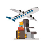 travel around the world set icons vector illustration design - 204226593