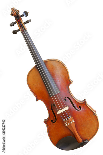 Fototapeta old violin isolated on white background