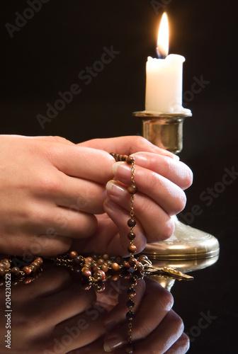 Rosary in prayer