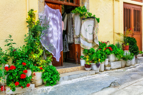 Fotobehang Freesurf Traditional villages of Cyprus with lace workshops