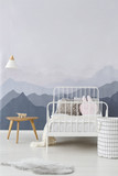 Mountains wallpaper in child bedroom