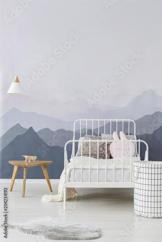 Fototapeta Mountains wallpaper in child bedroom