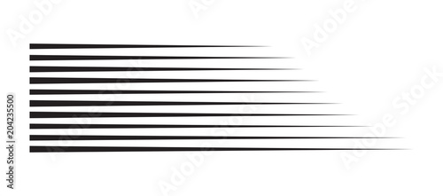 horizontal motion speed lines for comic book - 204235500