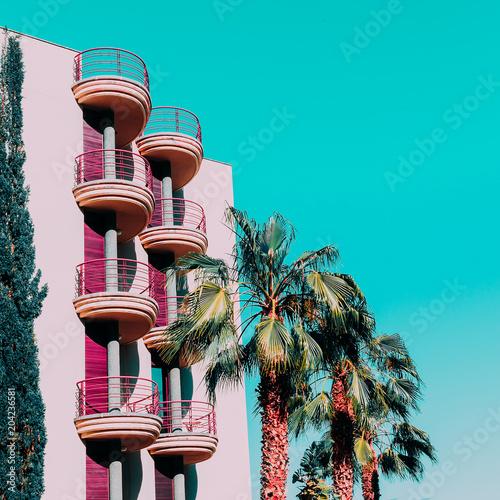 Canvas Canarische Eilanden Tropical minimal vibes. Fashion palm