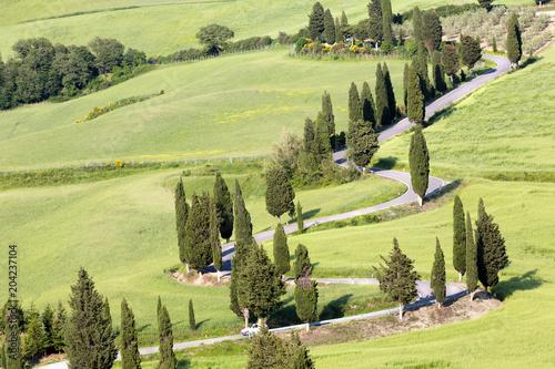 Fotobehang Toscane Tuscan roads