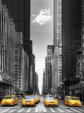 Rangée de taxis à New-York - 204242358