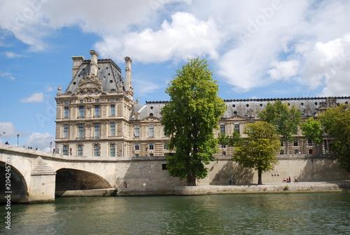 The Louvre; waterway; sky; water; building