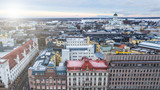 Aerial view of center of Helsinki, Finland - 204250346
