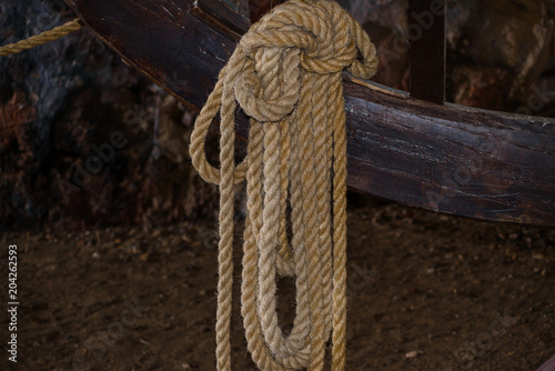 Rope - close-up. Rope background