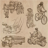 Transport, Transportation around the World - An hand drawn vector collection. - 204278570