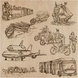 Transport, Transportation around the World - An hand drawn vector collection. - 204278757