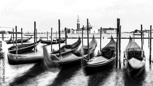 Fototapety, obrazy : Venice, black and white, high key, Italy, Europe