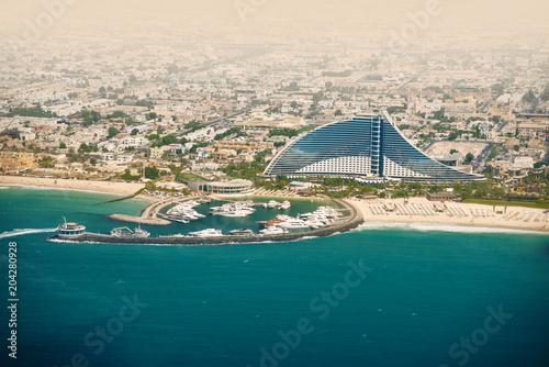 Fotobehang Groen blauw Dubai Jumeirah beach, UAE. Travel destination.