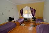 Interior of the quadruple hotel room in violet tones - 204286969
