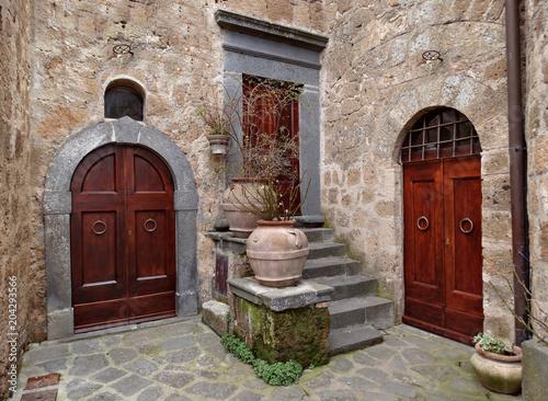 Średniowieczny dom w Bagnoregio