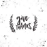 Thanksgiving Vector Lettering