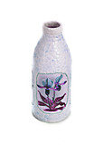dot painting. bottle painted with paints. very nice decor. isolate.