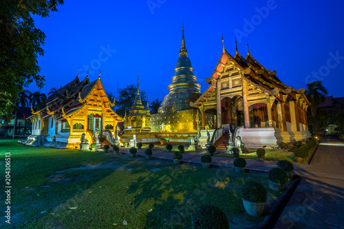 Plexiglas Thailand Wat Phra Singh is a Buddhist temple in Chiang Mai, Northern Thailand.