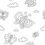 Muster Schmetterlinge ausmalen - 204312587