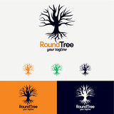 Round Tree Logo Designs Template - 204314507