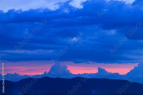 Plexiglas Donkerblauw Beautiful sky on twilight time