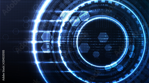 Technological interface future global system abstract background template vector