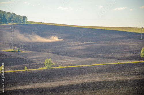 Fotobehang Zomer Bright summer landscape, arable land , Russia