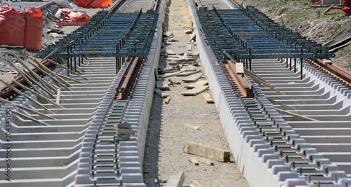 Plexiglas Spoorlijn pose d'écarteurs